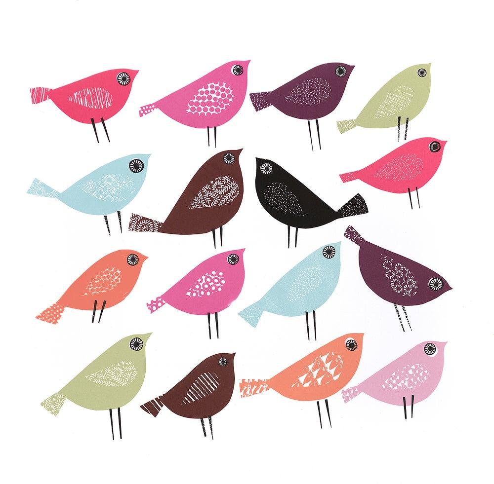 Image of 15 BIRDS HEADED FOR EASTBOURNE, 1 HEADED FOR WESTWARD HO!