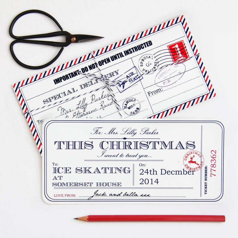 Image of Personalised Christmas Ticket