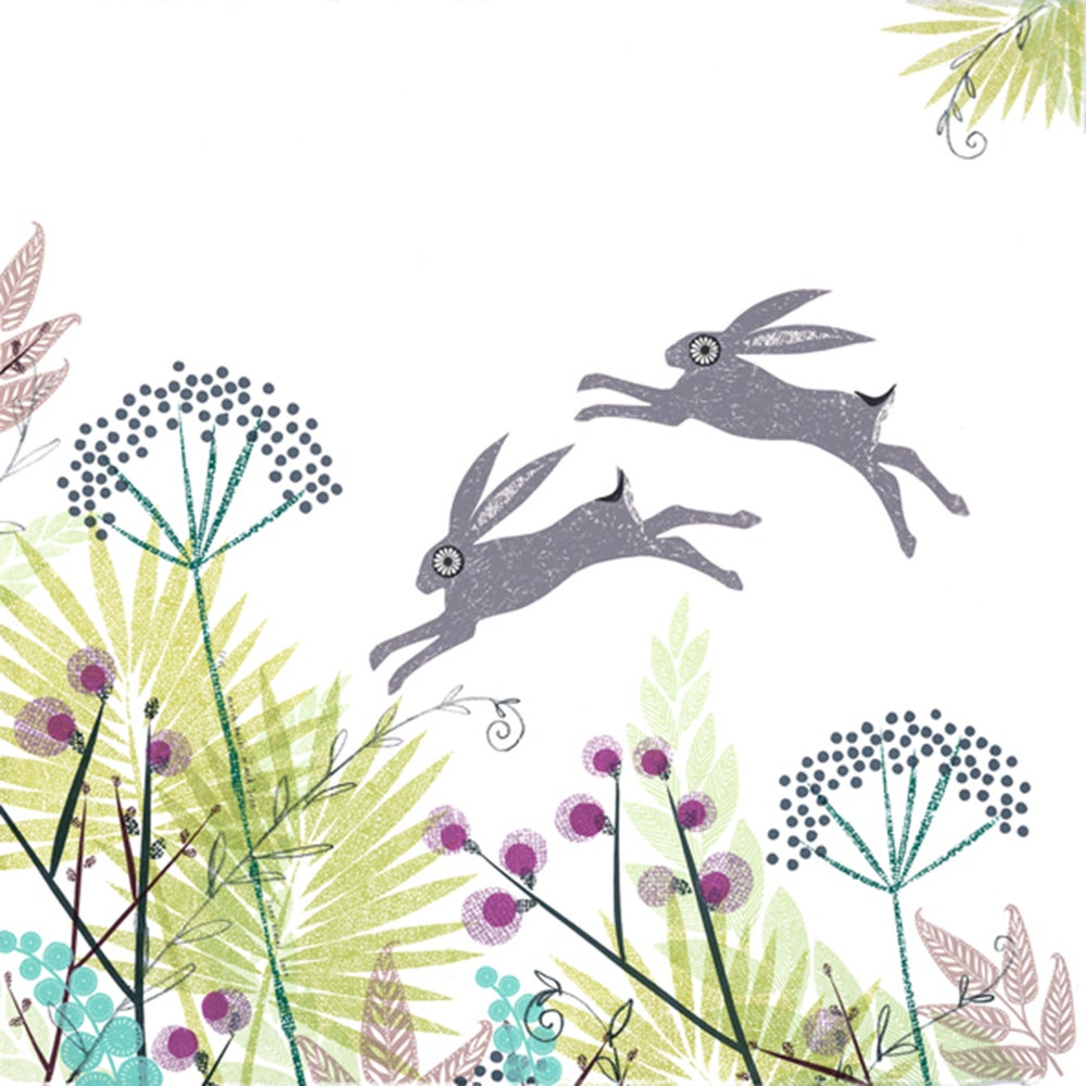 Image of MARCH HARES IN MID JUNE