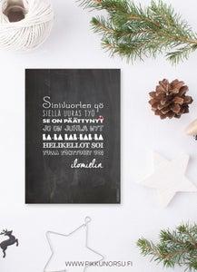 Image of Joulukortti - Sinivuorten yö, Pikkunorsu