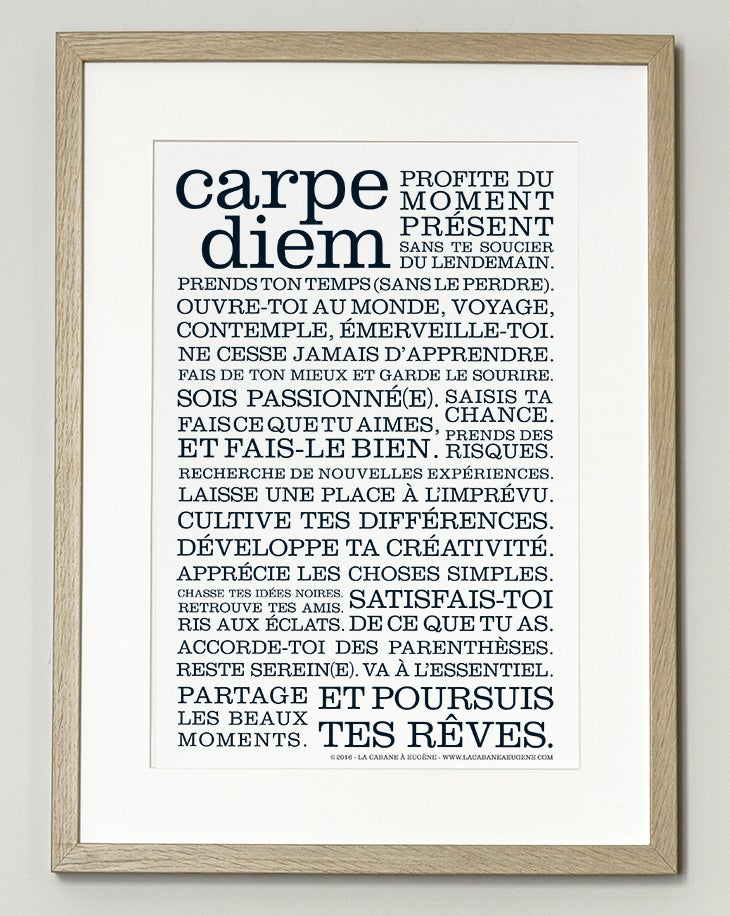 Image of Affiche Carpe Diem