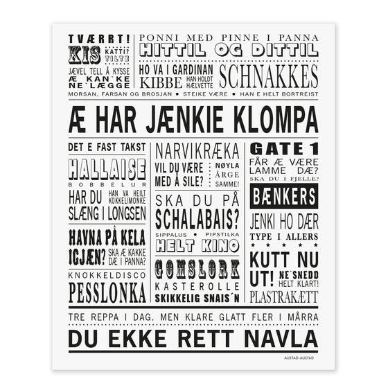 """Image of Narvik omegn postkort """"Æ har jænkie klompa"""""""