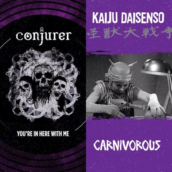 "Image of Conjurer / Kaiju Daisenso split 7"" Flexi"