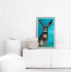 Image of Wild Rabbit Detail PRINT