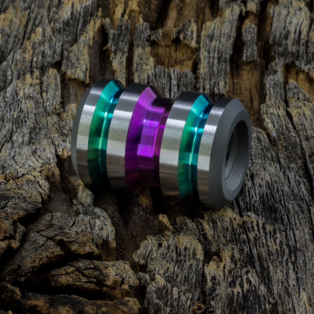 Image of Tank Wicked Orchid & Green Ti Bead #1