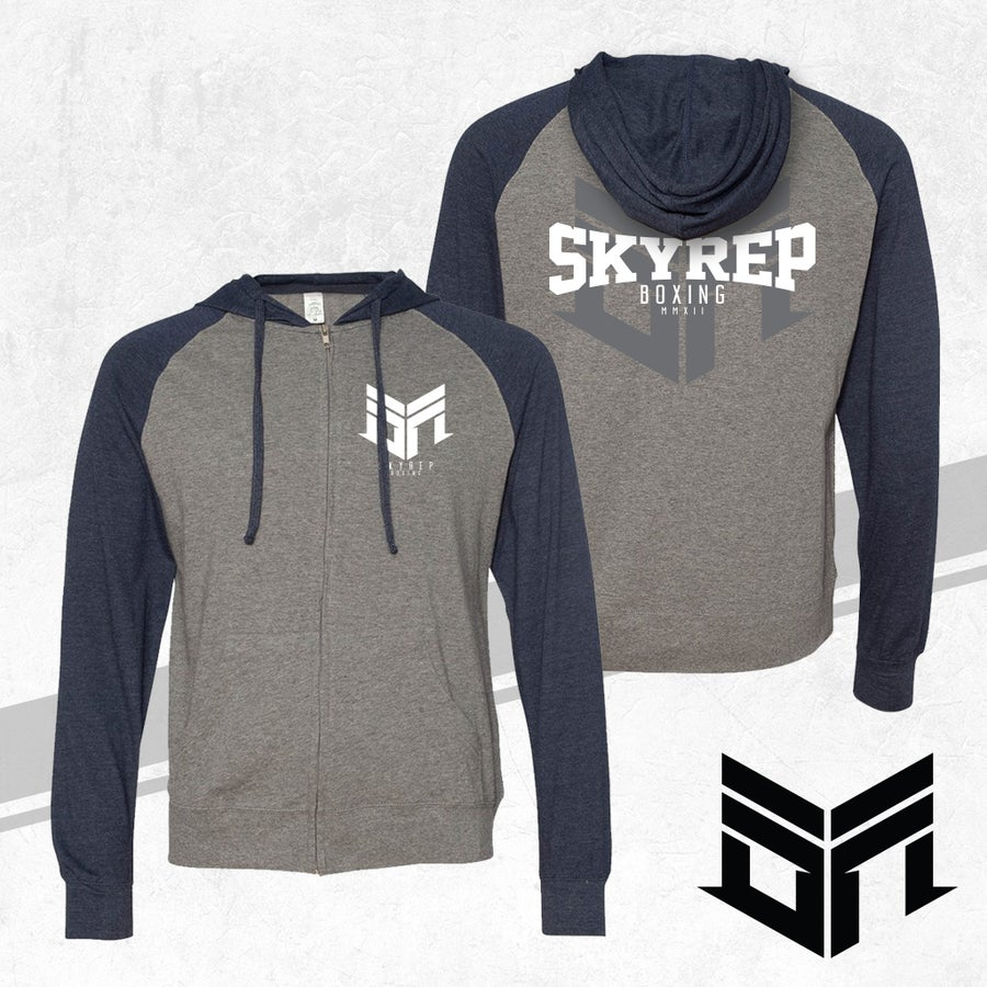 Image of SR Boxing Zip-Up Hoodie (Cowboys Nation)