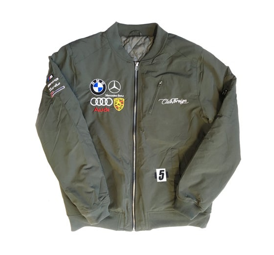 """Image of Club Foreign Bomber Jacket """"Green"""""""
