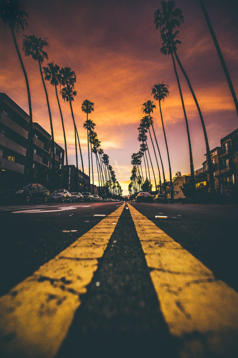 Image of santa monica sunset - print