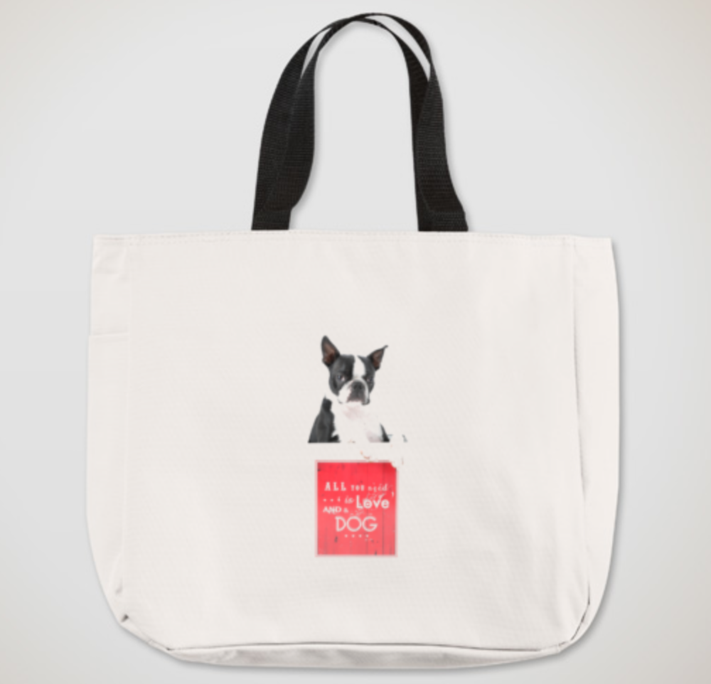 "Image of Larry Kelly ""Love"" Canvas Tote"