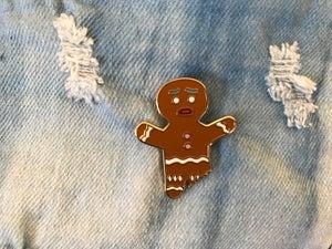 Image of Gingerbread Man Enamel Pin