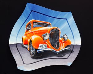 Image of '34 Plymouth Coupe 8x10 Block Mounted Print