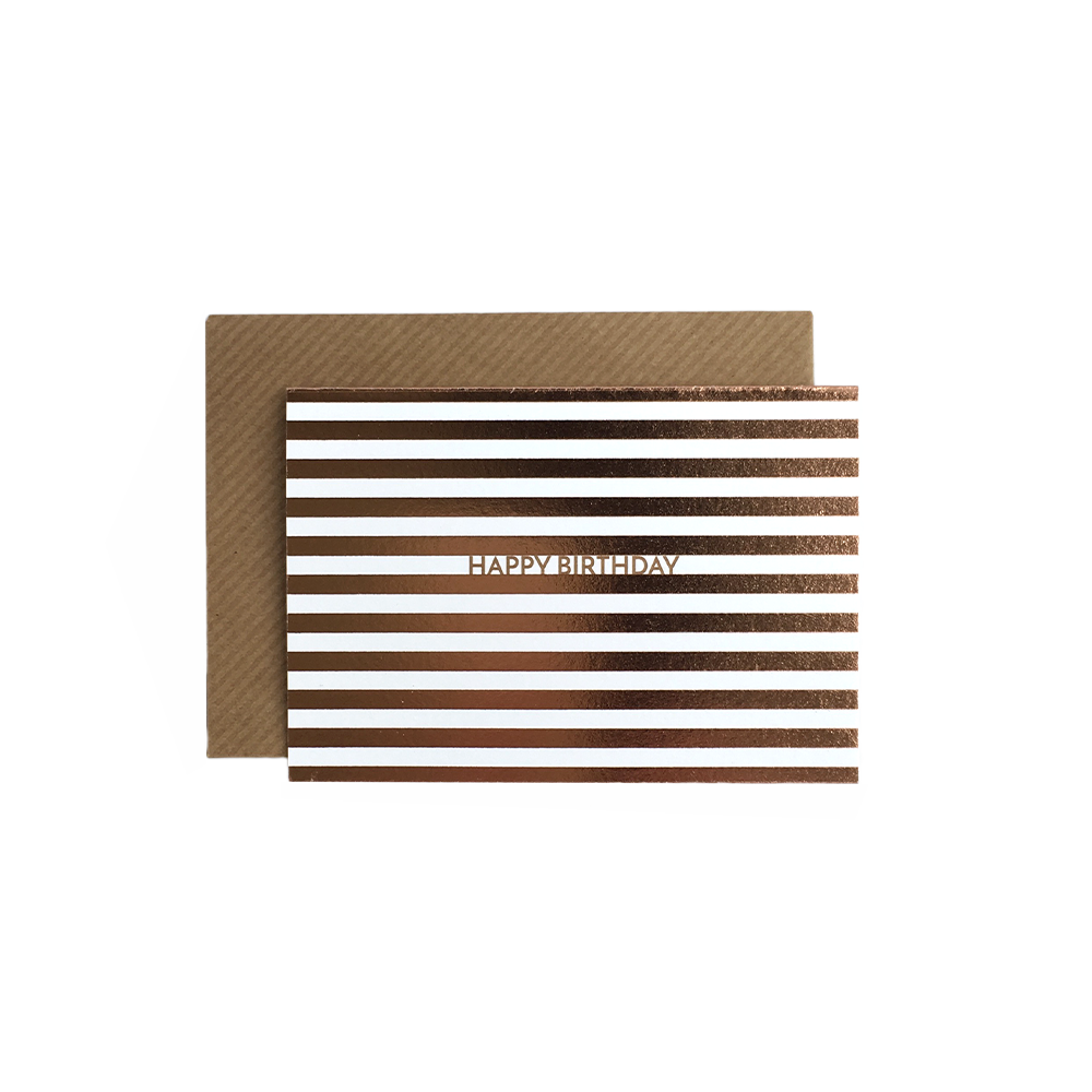 Image of Birthday Stripes (foil)