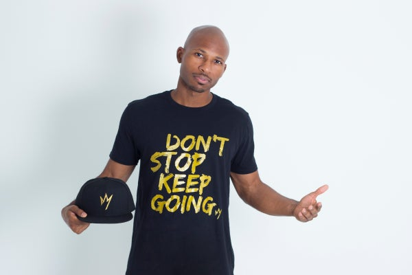 Image of Don't Stop, Keep Going Black Short Sleeve T-Shirt