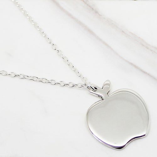 Image of Apple Sterling Silver Necklace