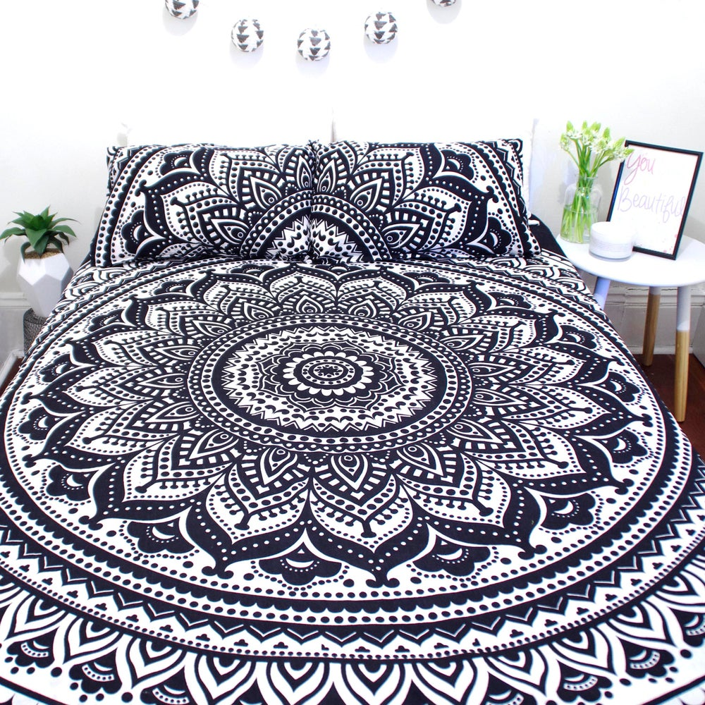 Image of Black and White Mandala Doona Set- WAS $110, NOW