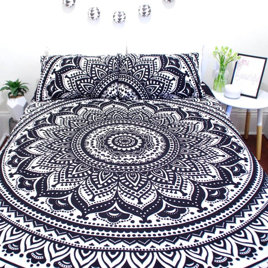 Image of Black and White Mandala Doona Set- WAS $110, NOW