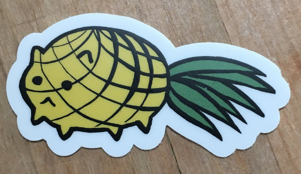 Image of Pineapple cat sticker