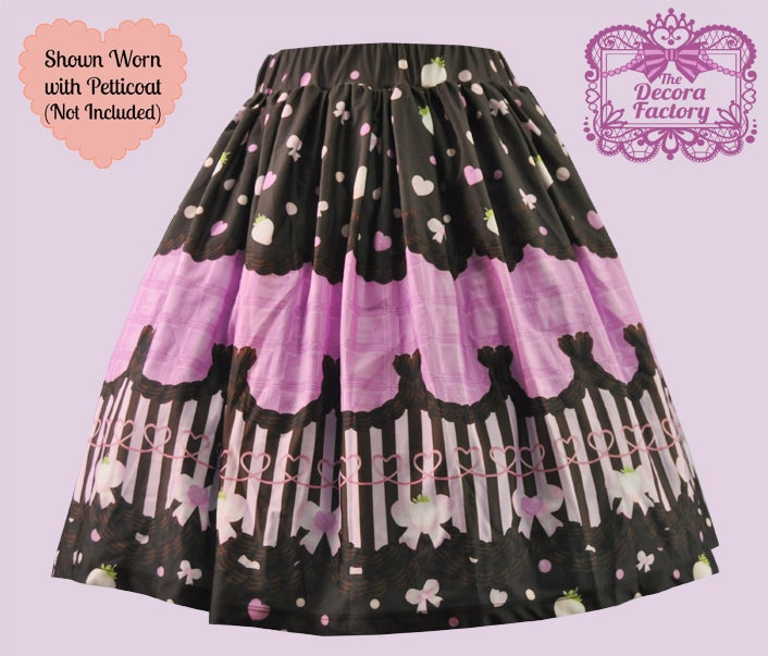 Image of Treat Me Choco Skirt in Pink
