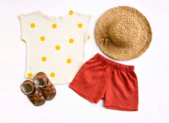 Image of Organic Cotton Top yellow spots