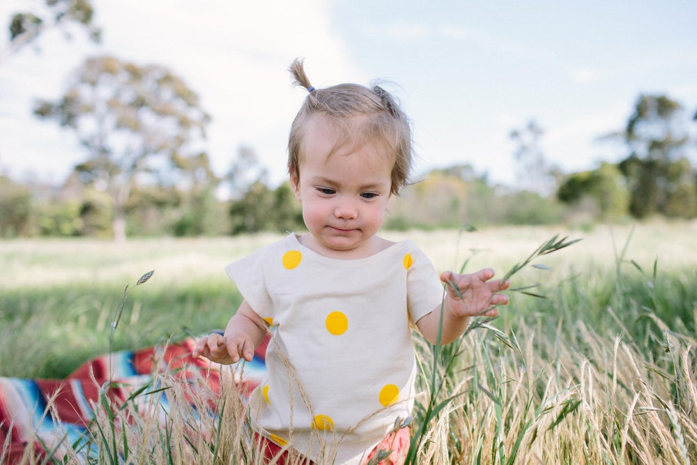 Image of Organic Cotton Top yellow spots