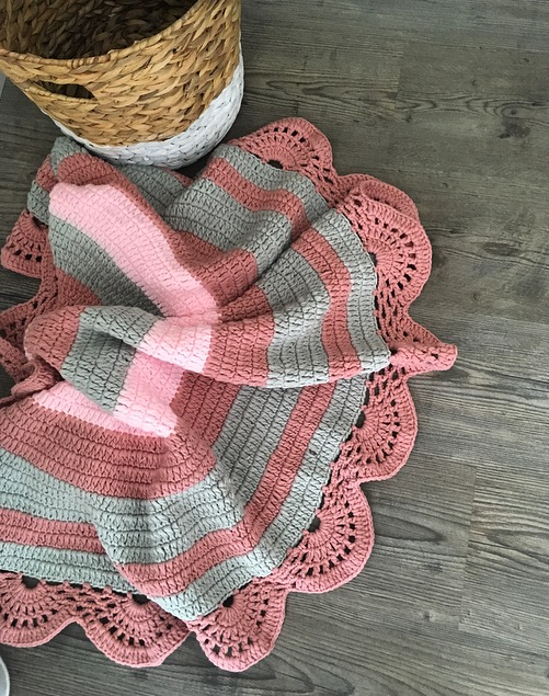 Image of New Dusky Rose Crochet Playmat