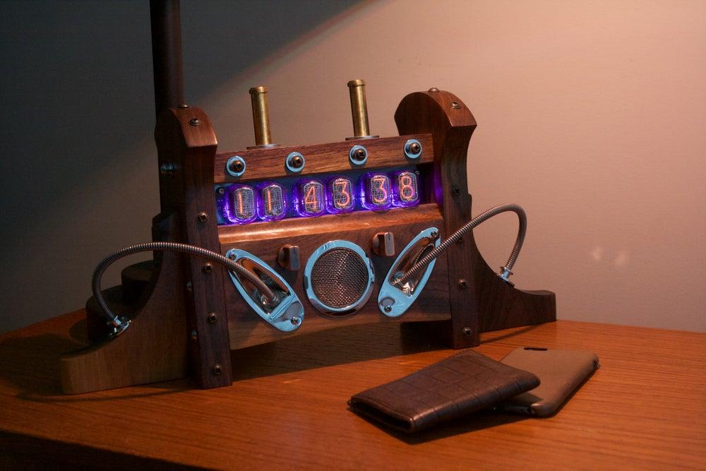 Image of Nixie Tube Clock MKI - Black Walnut & Mixed Hardware
