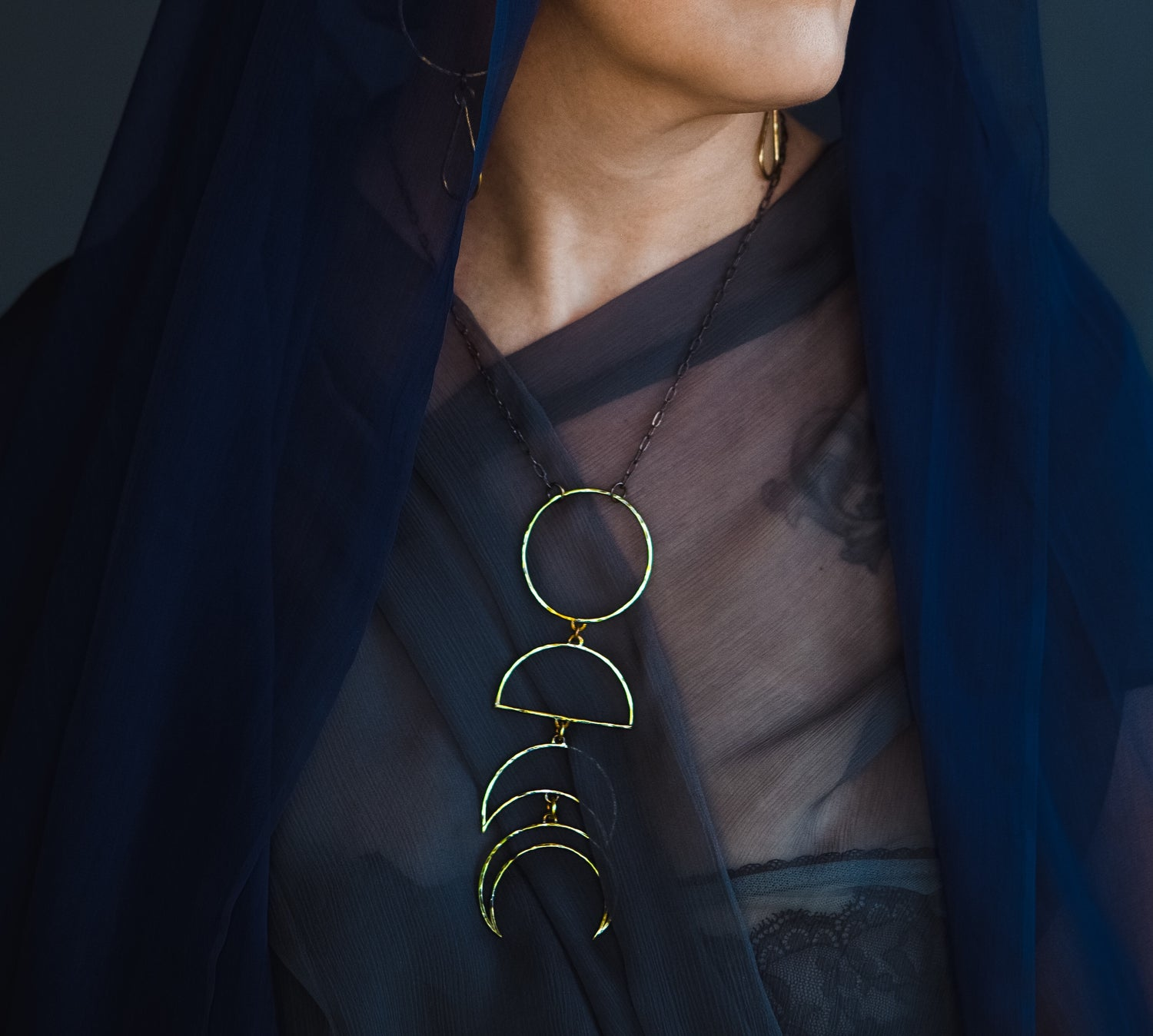Image of Fortnight Moon phase necklace