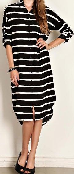 Image of Striped Tunic Dress
