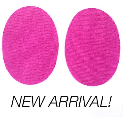 Image of Iron-On Cashmere Elbow Patches - Hot Pink Ovals - Limited Edition!