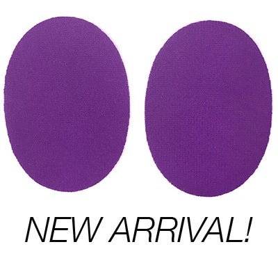 Image of Iron-On Cashmere Elbow Patches  - Bright purple Ovals
