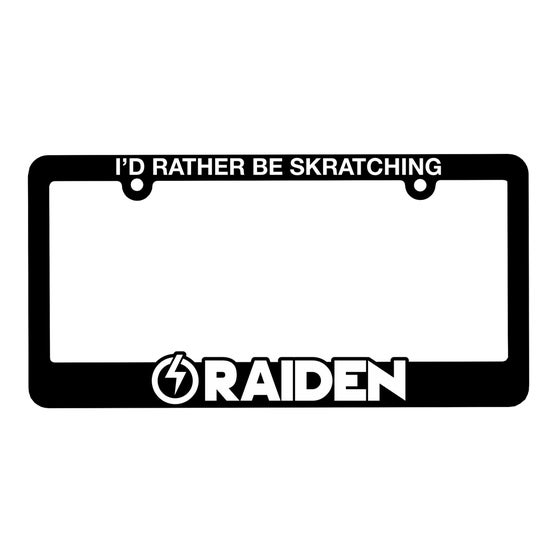 Image of LICENSE PLATE FRAME - I'D RATHER BE SKRATCHING