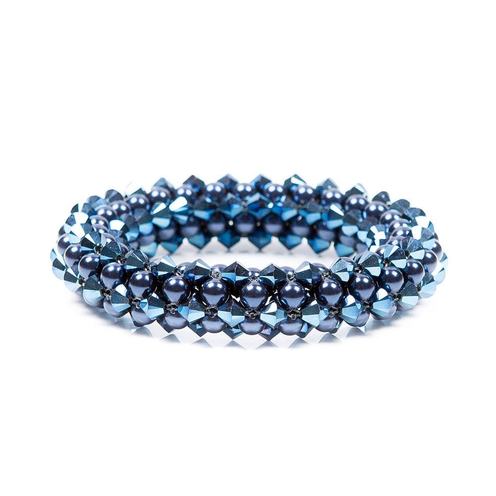 Image of Metallic blue rope bracelet
