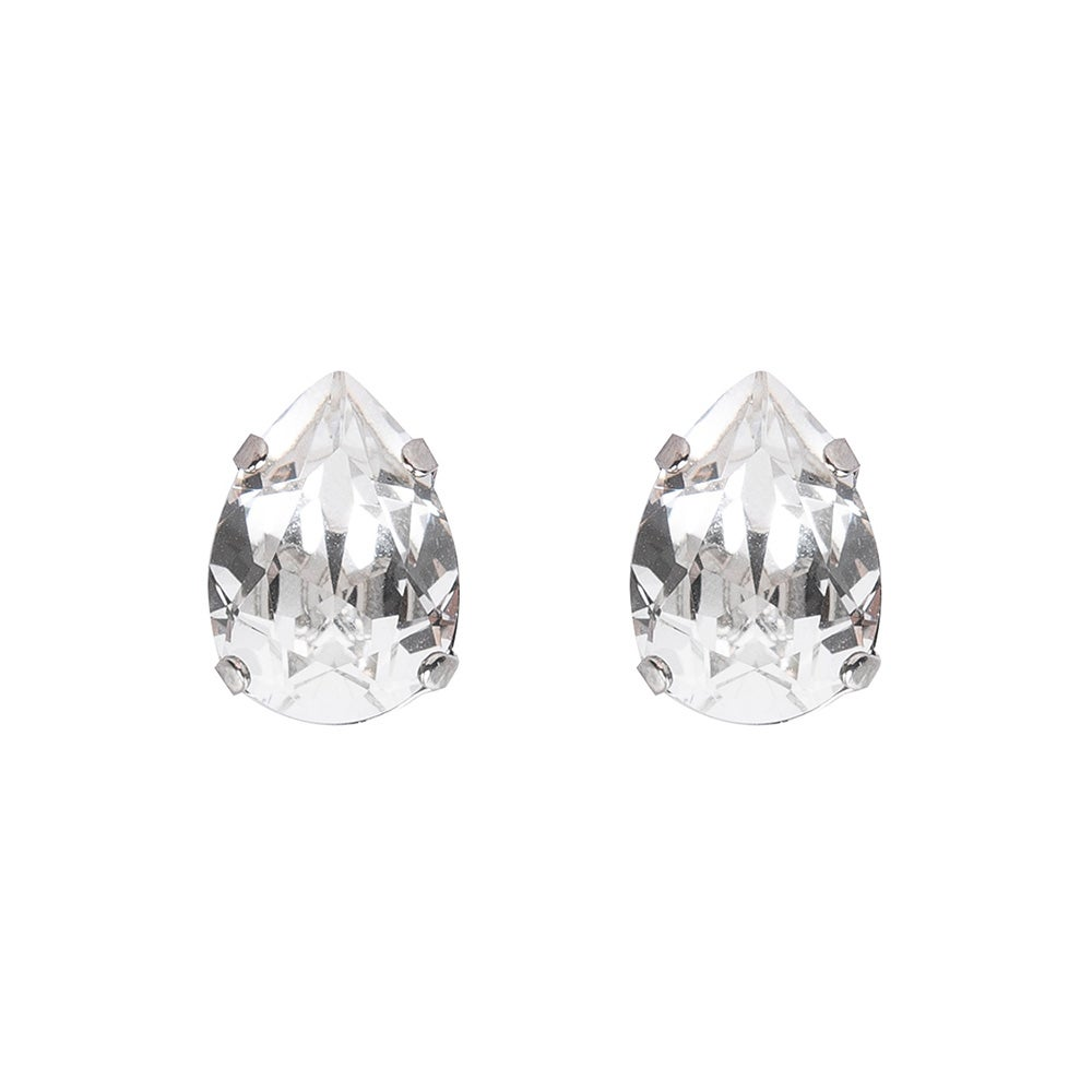Image of Large pear stud earrings
