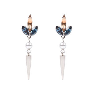 Image of Palladium Wisteria spike earrings