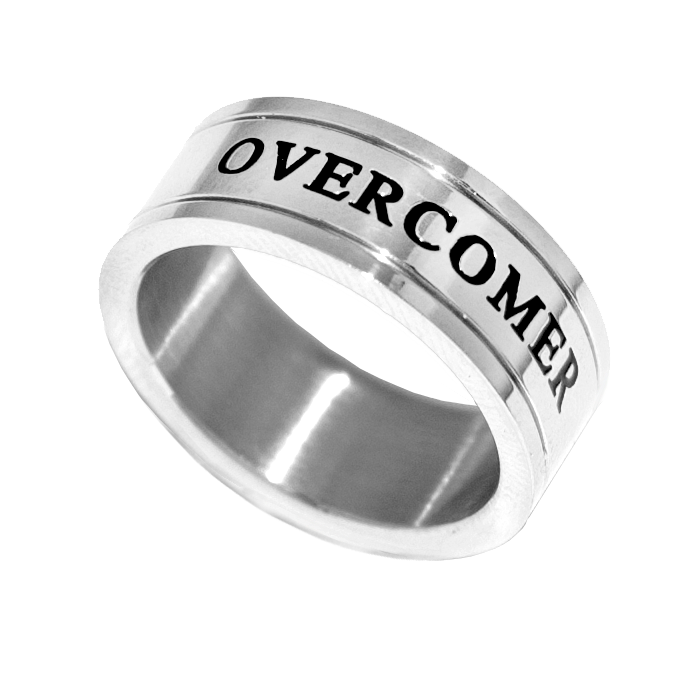 Image of Overcomer - Silver Channel Ring - Unisex