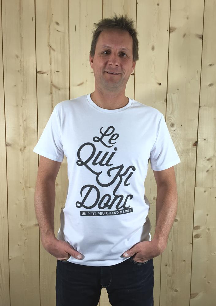 Image of T-shirt HOMME Blanc - Le Qui Ki Donc