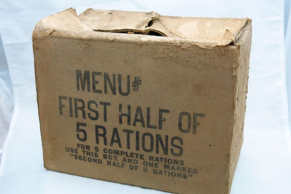 Image of WW2 US Ration Box - Normandy Relic