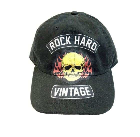 """Image of Rock Hard Vintage """"Skull Biker"""" Dad Hat """"Black"""""""