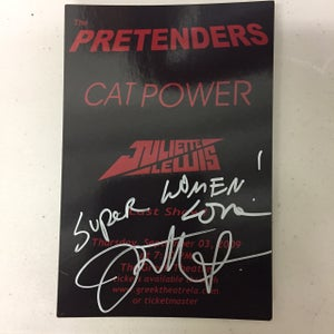 Image of *SIGNED* Show flyer Pretenders, Cat Power, Juliette 2009