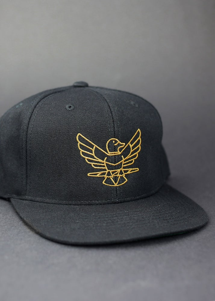 Image of Greenhead Snapback Hat in Black