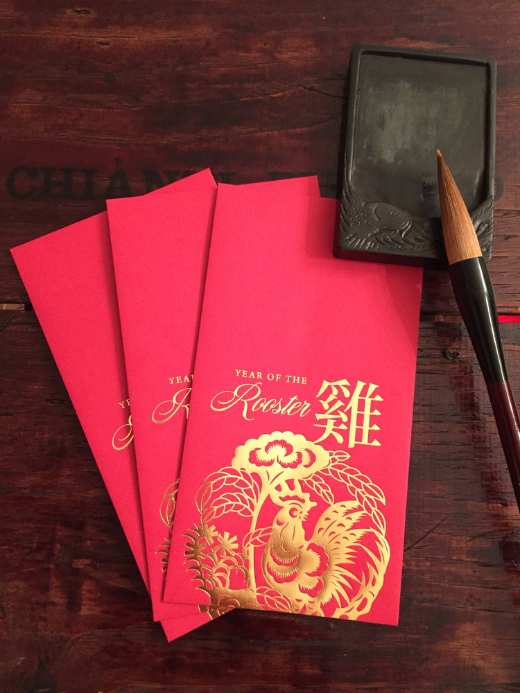 "Image of ""Year of the Rooster"" Red Envelopes"