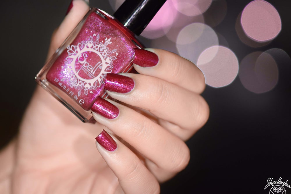 Image of ~Magical Roots~ cranberry fuchsia pink duochrome w/silver flakes!