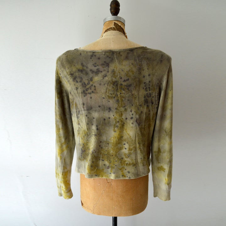 Image of silk and cashmere camo sweater