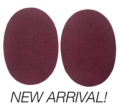 Image of IRON-ON CASHMERE ELBOW PATCHES - MAROON HEATHER - Limited Edition!