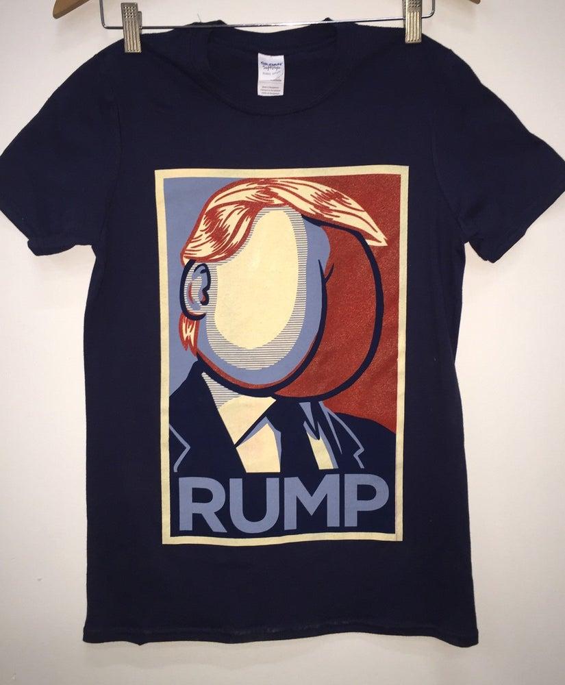 Image of RUMP Navy Blue tee (Trump Parody)