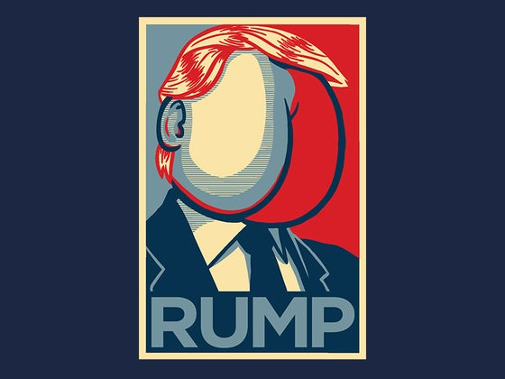Image of RUMP Navy Blue tee (Trump Parody)