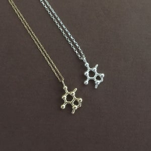 Image of tiny theobromine necklace