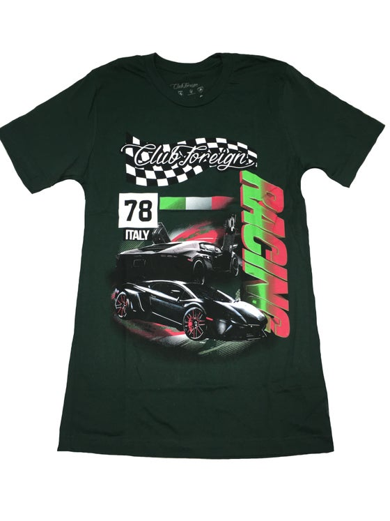 """Image of Club Foreign Racing """"Italy"""" T Shirt """"Green"""""""