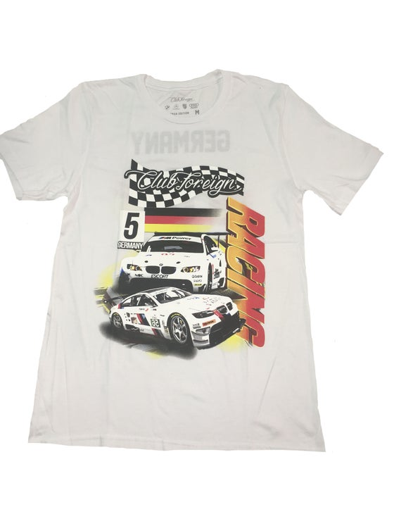 """Image of Club Foreign Racing """"Germany"""" T Shirt """"White"""""""