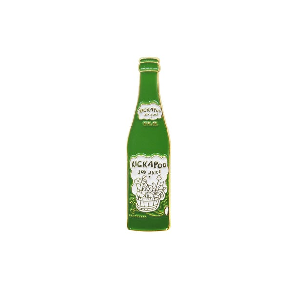 Image of Kickapoo Joy Juice Drink - Vintage Glass Bottle Pin